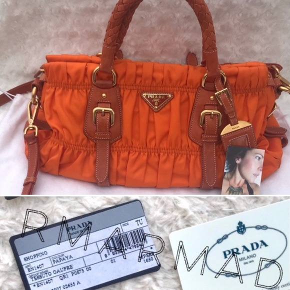 fb00198a2b5c Prada Bags   Authentic Satchel Ruched Gaufre Tessuto Bag   Poshmark